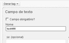 criação de diversos formulários